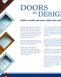 Dorluxe Stable Doors Brochure