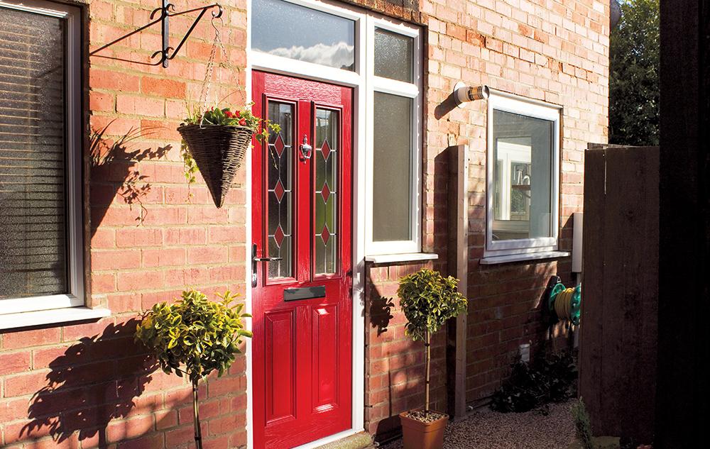 Red Composite Doors